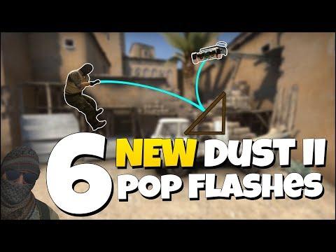 6 NEW DUST II POP FLASHES - CS:GO Dust 2 Useful Pop Flash Guide