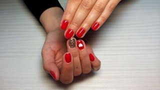 Дизайн ногтей гель-лак Shellac - Дизайн ногтей блестками + роспись ногтей (уроки дизайна ногтей)