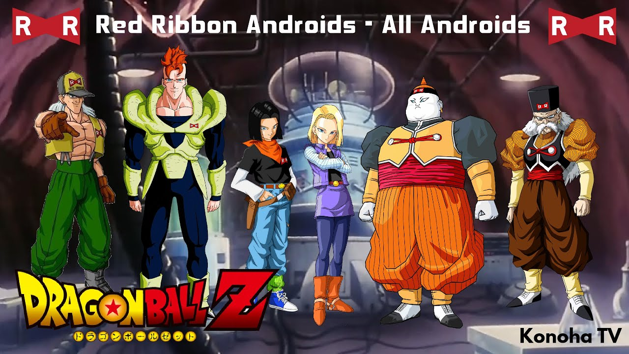 the red ribbon androids all androids and forms dragon ball z