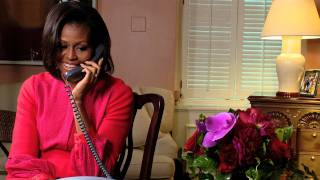 The first lady makes a surprise call to military spouse jessica allen, mother of two, who spends all her free time trying help other young wives in the...