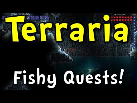 Terraria 1.2.4 - Ridiculous Fishing Quests! (Terraria 1.3 Practice!)