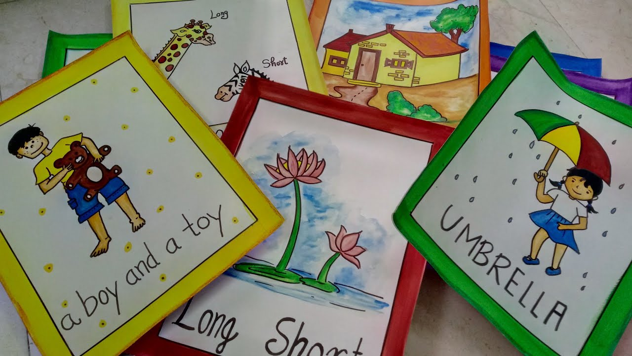 How To Make Flash Cards For Kids | CraftLas