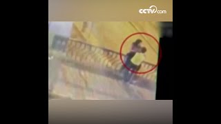 Kissing couple plunge to death from bridge| CCTV English