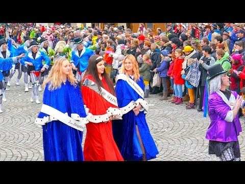 Germany carnival in Rottenburg 4K 2⃣0⃣1⃣7⃣ With exotic Guests from France Selestat & Swiss Zürich