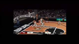 NBA Live 10 (PSP) Gameplay: Philadelphia 76ers vs. San Antonio Spurs