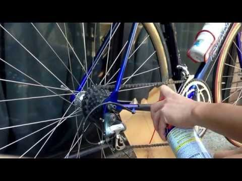 How to clean bicycle chain.