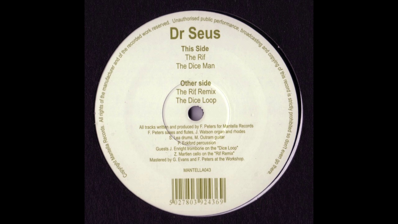e95b4e80c3f5 Dr Seus - The Rif  OFFICIAL AUDIO  - YouTube