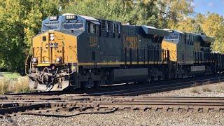 Railroad Diamonds, Huge Freight Trains, Ohio Trains Of CSX & Norfolk Southern In Fostoria, Ohio