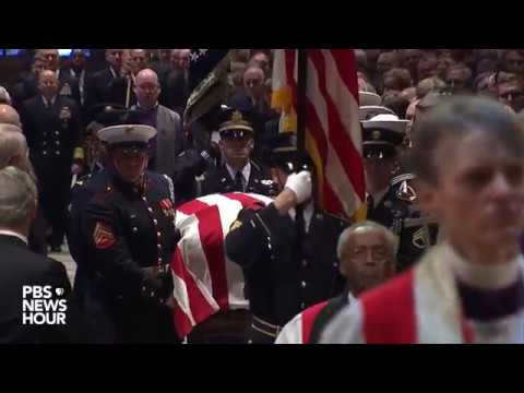 WATCH: George H.W. Bush's casket enters funeral at Washington National Cathedral