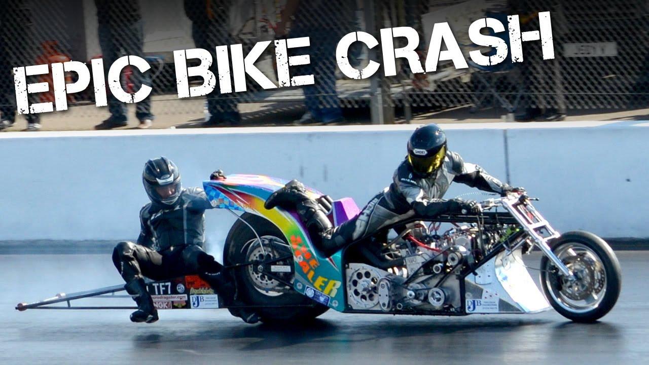 Amazing Top Fuel Drag Bike Crash At Santa Pod Raceway Youtube
