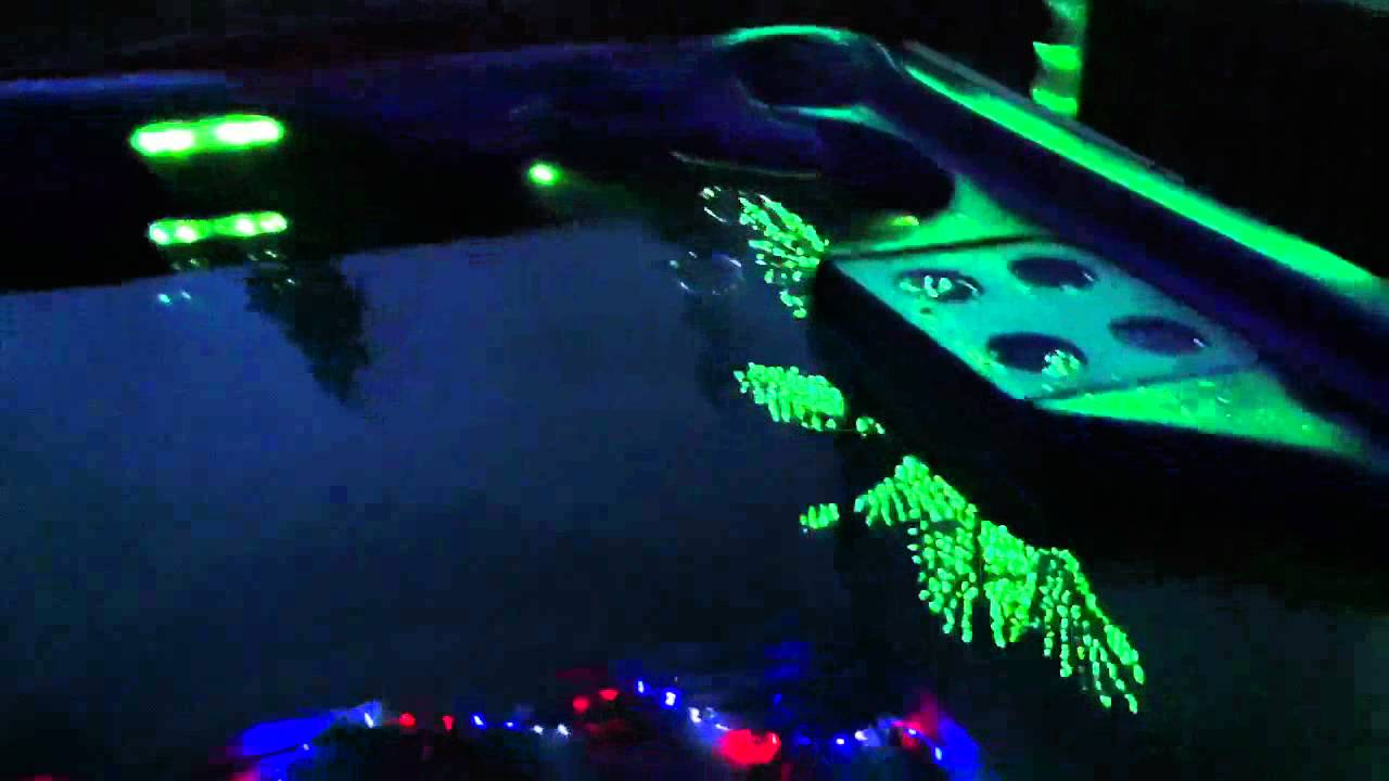 Onyx hot tub and led palm tree - YouTube