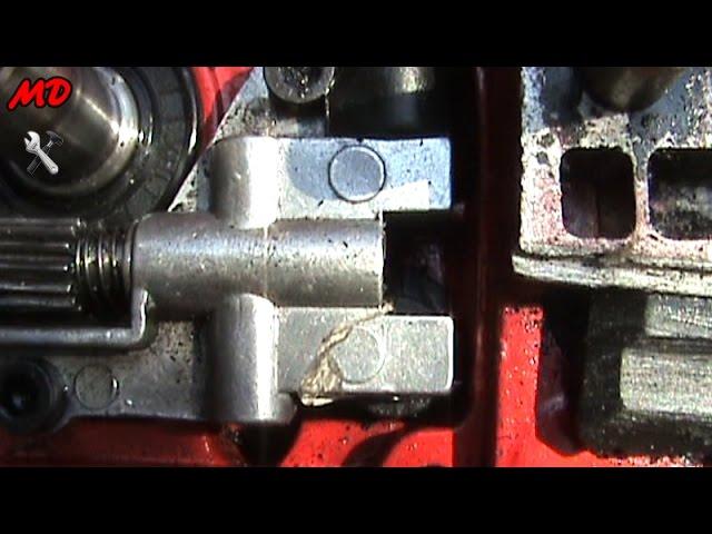 как устранить течь масла для смазки цепи на бензопиле gl 4500м