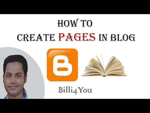 How To Create Pages And Write Posts Under Them In Blog - Ste
