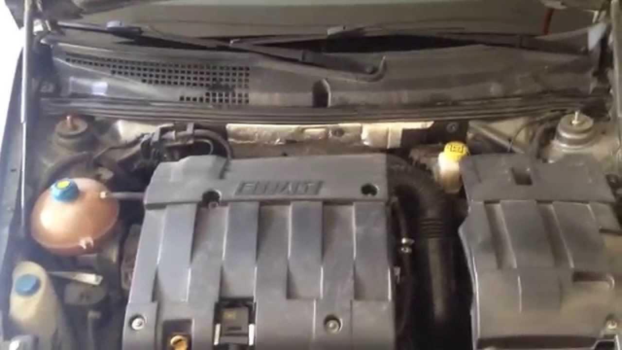 Fiat Stilo BYB 16 16V Normal engine idle running sound  YouTube