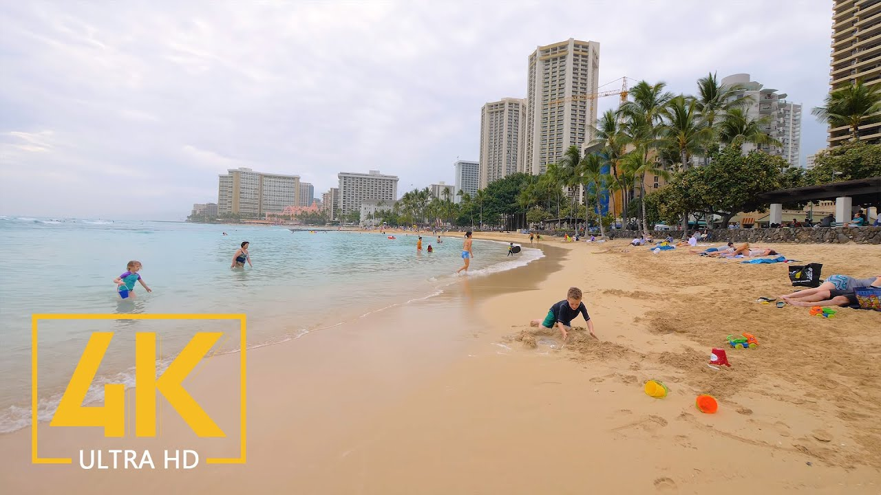 Top Hawaiian Beaches in 4K - Ala Moana Beach and Waikiki Beach - Oahu Travel Guide