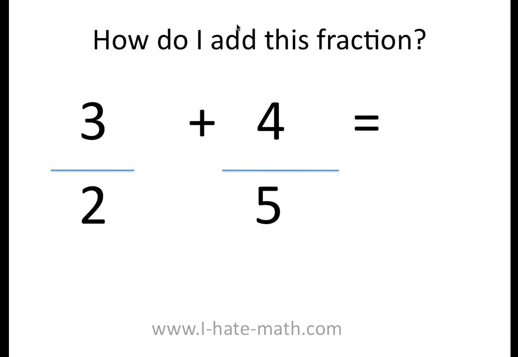 How to add fractions - YouTube