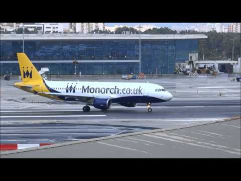 Gibraltar airport crosswind landings, go around /  aborted landings