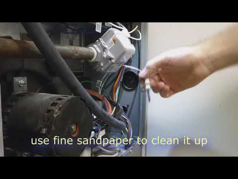 How to fix LENNOX FURNACE. Burners failed to ignite start. Cleaning igniter flame sensor. Fixing DIY