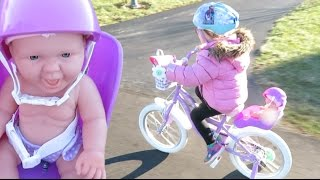 first bike ride with the ride along dolly bike seat