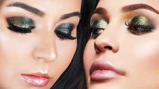 Kylie Jenner Inspired Emerald Green and Gold Makeup Tutorial