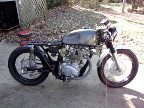 honda cl450 cafe start up - youtube