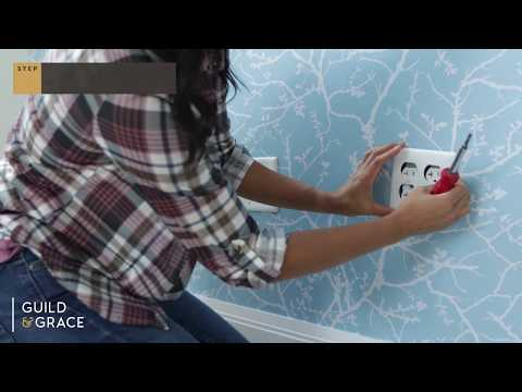How to install removable wallpaper around outlets and light switches