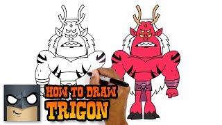 How to Draw Trigon   Teen Titans GO! (Art Tutorial)