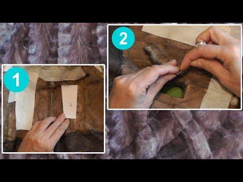 Как зашить шубу