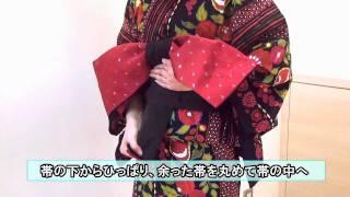 【阪急百貨店】ゆかたの帯の結び方~片花文庫~ thumbnail