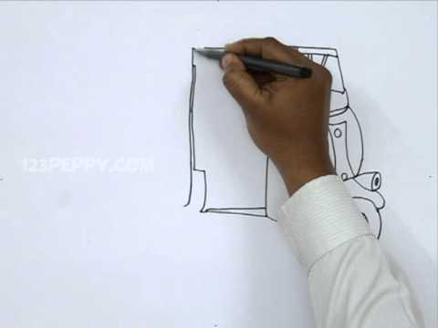 How To Draw An Auto Rickshaw Youtube