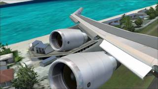 FS2004 | PMDG Boeing 747-400 St. Maarten Departure