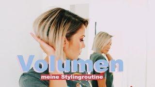 Wie bekomme ich mehr Volumen in meine Haare? Meine Styling Tipps für Haarvolumen| funnypilgrim