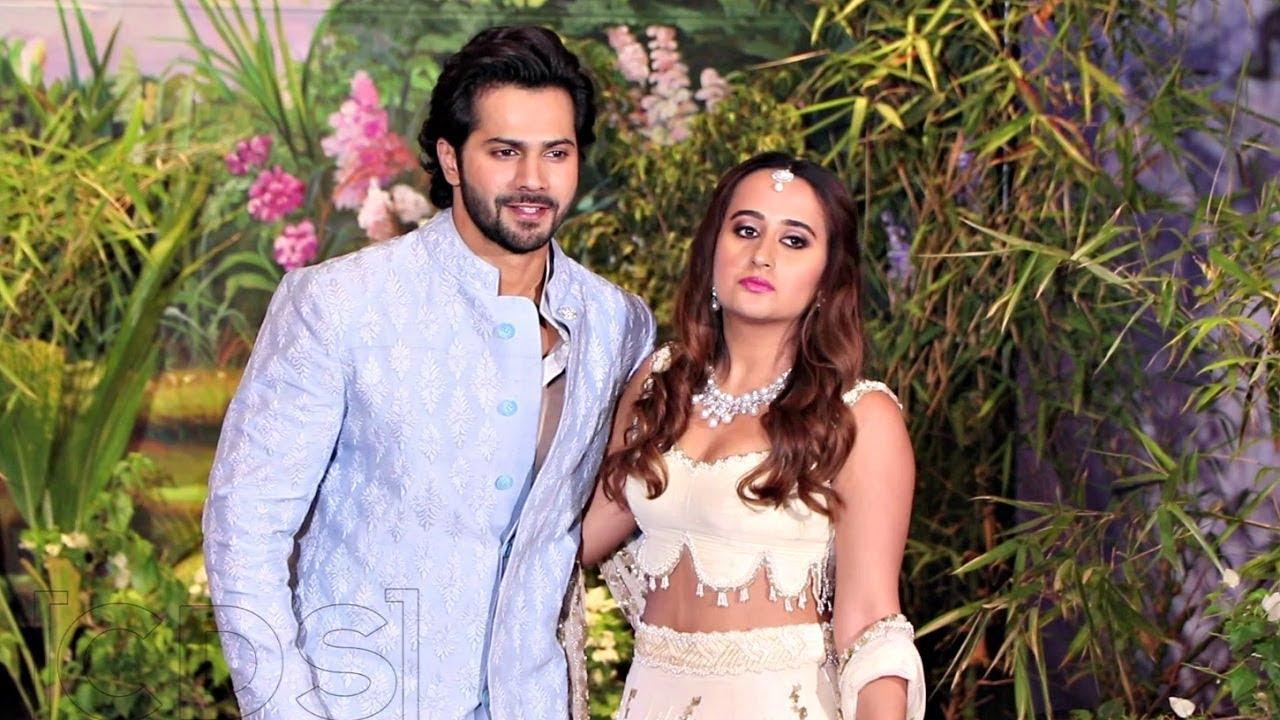 Varun Dhawan With His Girlfriend  Natasha Dalal At Sonam Kapoor Wedding Reception