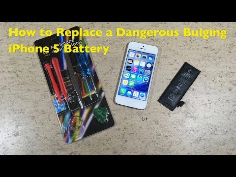 How To Replace A Dangerous Bulging Swollen IPhone 5 Battery