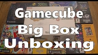 Gamecube Big Box Games Unboxing (Zelda, Final Fantasy, Odama, Mario Party)