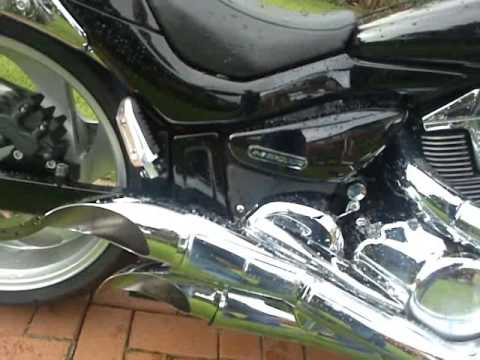 Suzuki Intruder M109r Scorpion Exhaust Tips - YouTube