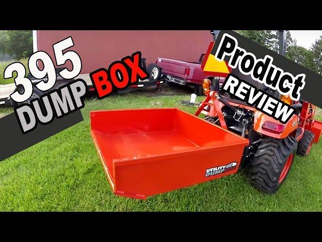 Kubota BX implements product review - MK Martin 395 Utility Dump Box