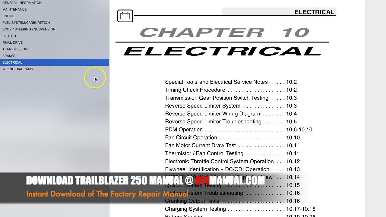 small resolution of polaris trailblazer 250 repair manual 2004 2005 2006 trail blazer