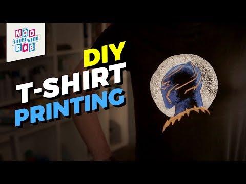 DIY BLACK PANTHER T-SHIRT PRINTING | MAD STUFF WITH ROB