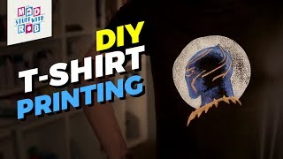 How to Print a T-shirt at Home | Black Panther
