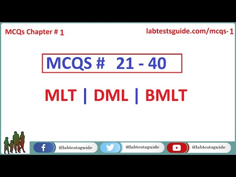 21 - 40 MCQ's and their Answers  For Laboratory Technicians and Technologists