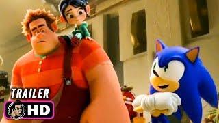 "RALPH BREAKS THE INTERNET ""Sonic"" Trailer (2018) Disney"