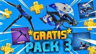 *NEW* PACK 3 PSN PLUS **FREE** IN FORTNITE! VERY EASY TO GET THIS PACK!