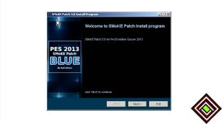 How to install the Pes 2013 Smoke Patch Blue?
