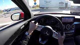 2019 Facelift Mercedes Benz C220D Class 60 FPS POV drive test drive acceleration