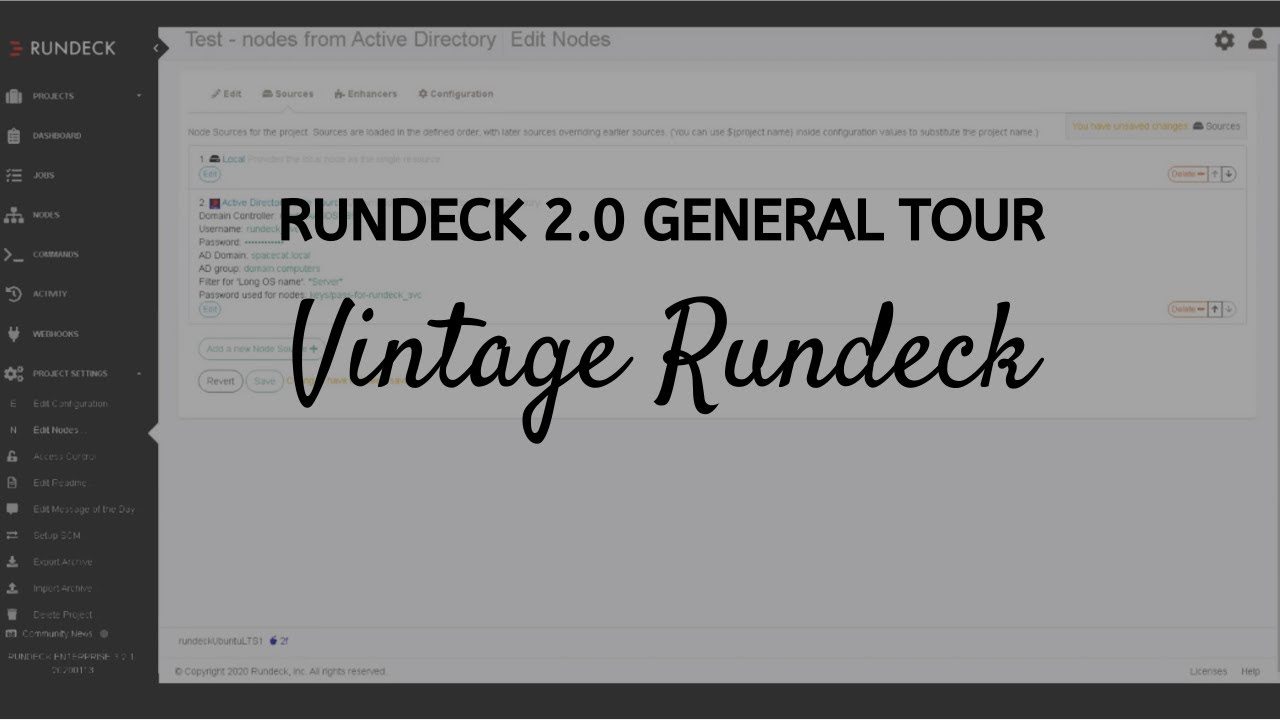 Vintage Rundeck: 2 0 General Tour