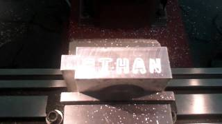 1er essai de gravure sur SIEG X3 CNC