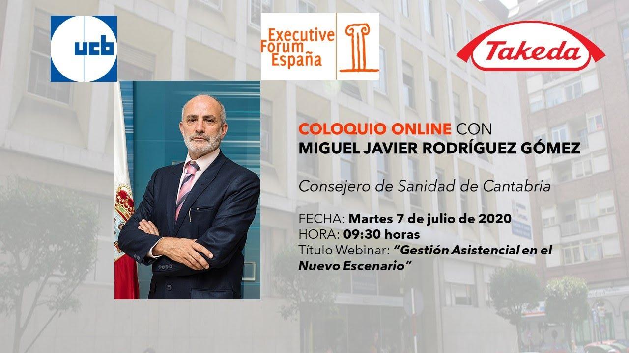Coloquio Online con Miguel Javier Rodríguez, consejero de Sanidad de Cantabria