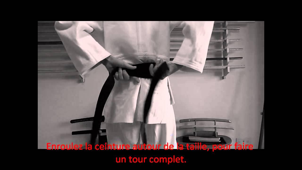 Comment nouer sa ceinture  - Aikido, Judo, Karate - Technique Classique 06ae135e4a8