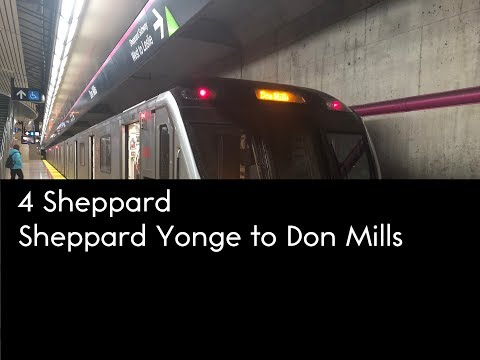TTC 2010-17 Bombardier Toronto Rocket On Line 4 Sheppard (Sheppard-Yonge Station To Don Mills)